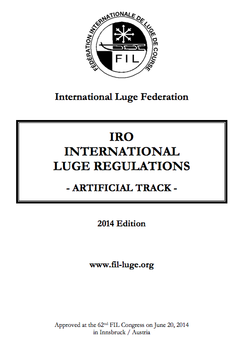 Luge Regulations